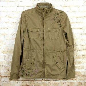 Sonoma Utility Embroidered Floral Military Jacket